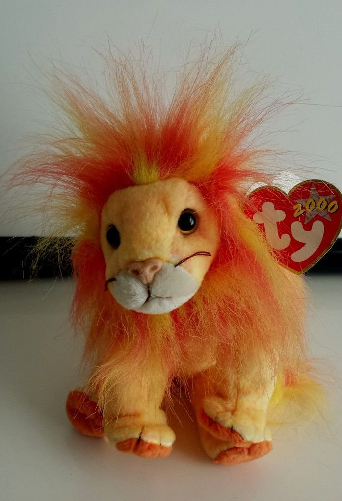 TY 2000 BUSHY LION BEANIE BABIES COLLECTION with Tag