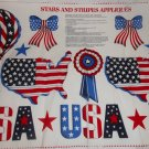 Stars and Stripes Appliques Cranston Fabric