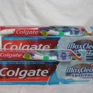 2 COLGATE MAXCLEAN OR MAXFRESH TOOTHPASTES & 360 WHOLE MOUTH CLEAN TOOTHBRUSHES