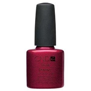 CND Shellac Nail Gel Polish Red Baroness 40509