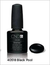 CND Shellac Nail Gel Polish Black Pool 40518