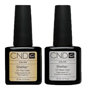 CND Shellac Nail Gel Polish UV Top Coat Base Coat Large size 0.5