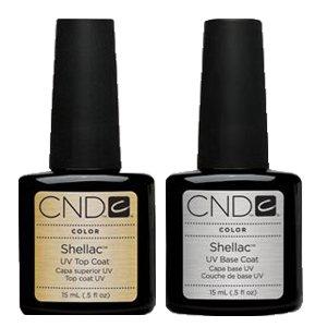 CND Shellac Nail Gel Polish UV Top Coat Base Coat Large size 0.5
