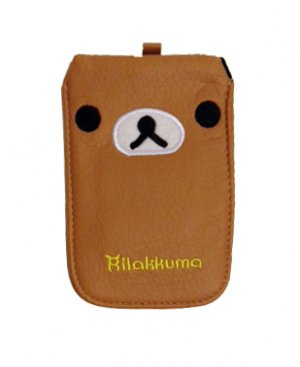 PU Leather Rilakkuma Protective Pouch Bag Case for iPhone HTC Samsung Mobile Phone
