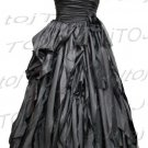 Strapless/One shoulder A-line evening dress-CH001