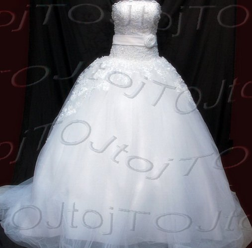 Strapless ball gown wedding gown-Har30