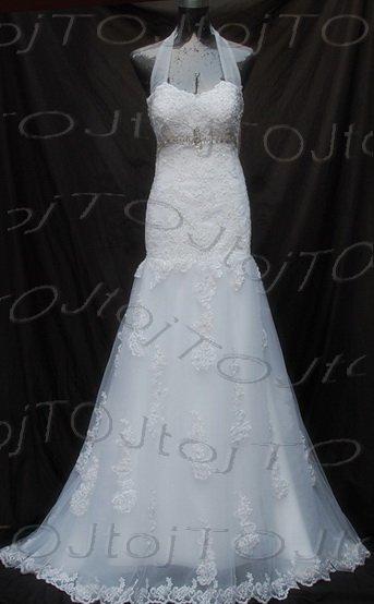 Cap sleeves mermaid wedding gown-Har32
