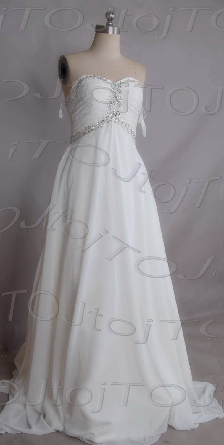 Sweet heart A-line wedding gown-DWG0871