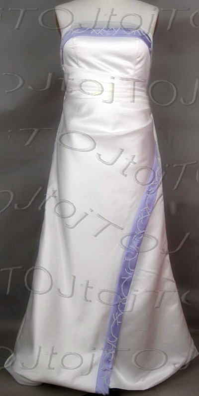 Strapless A-line wedding gown-WG901