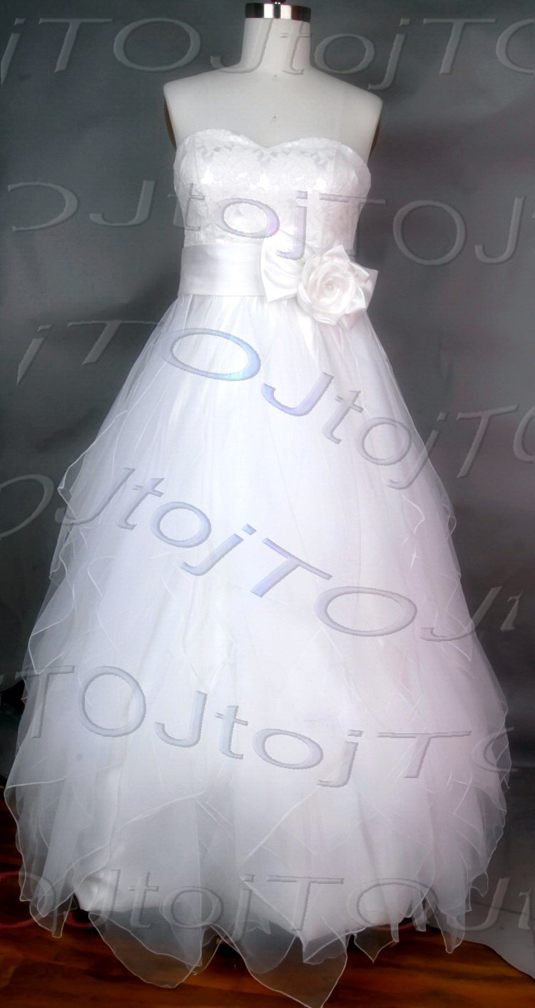 Strapless A-line wedding gown-WG930