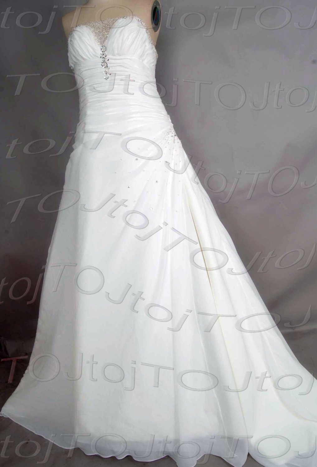 Strapless A-line wedding gown-DWG0869