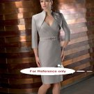 V neck sheath short evening suit-6228