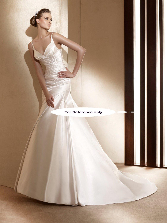 V neck mermaid wedding gown-Alice