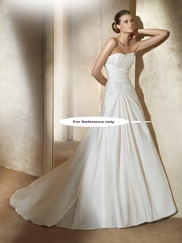 Strapless A-line wedding gown-Almata