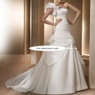 One shoulder mermaid wedding gown-Alora