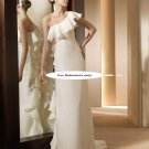 One shoulder sheath wedding gown-Anade