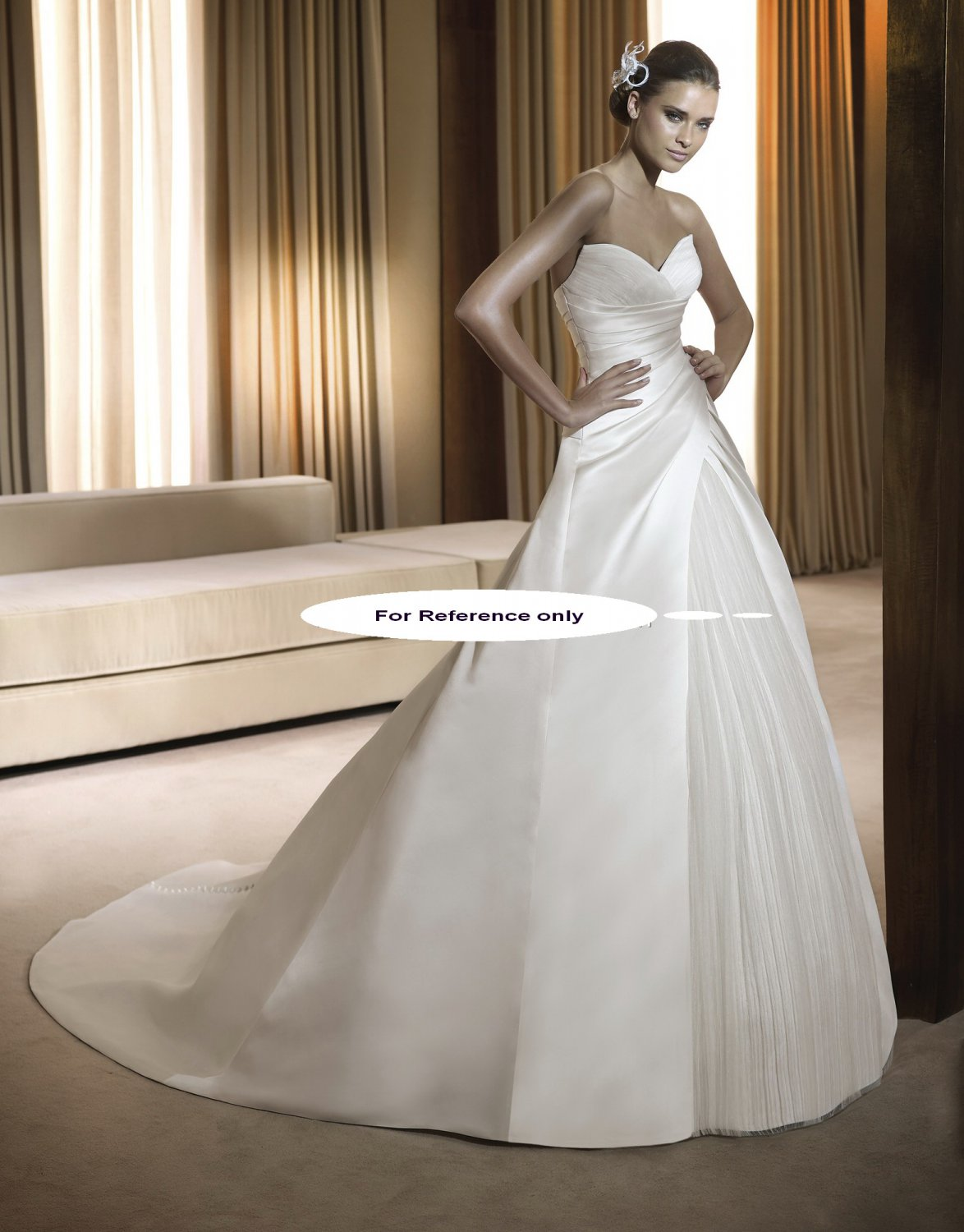 Sweet heart A-line wedding gown-Funcion