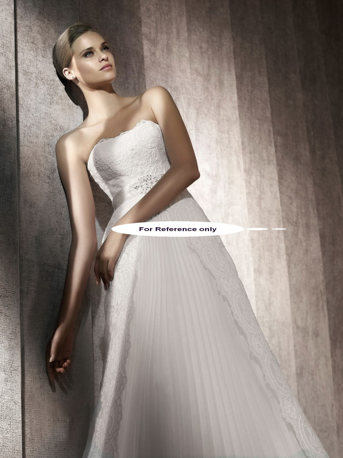 Strapless A-line wedding gown-Pasion