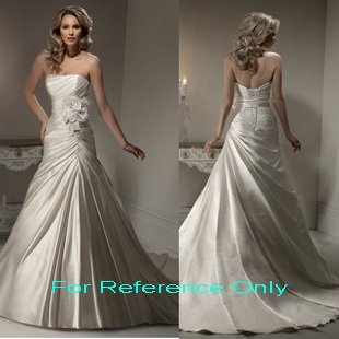 Strapless A-line wedding gown-1392