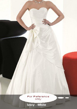 Sweet heart A-line wedding gown-WG808