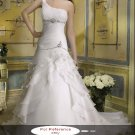 One shoulder mermaid wedding gown-WG814