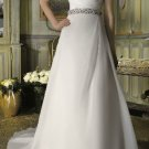 Strapless A-line wedding gown-WG815