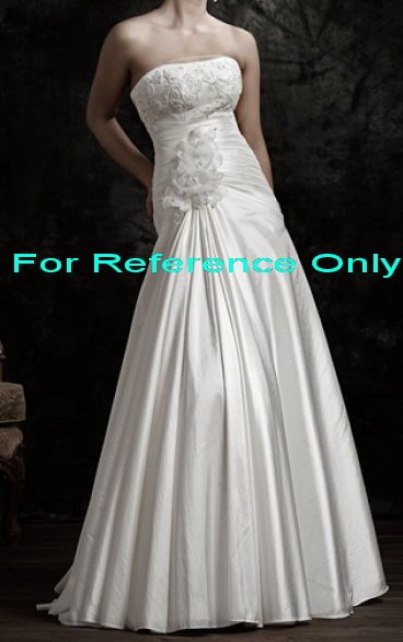 Strapless mermaid wedding gown-WG817