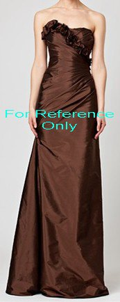 Strapless A-line evening dress-ED050