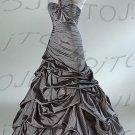 Strapless ball evening dress-P1502