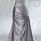 One-shoulder mermaid evening dress-P2421
