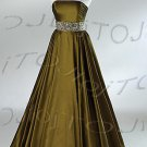 Strapless A-line evening dress-P5563