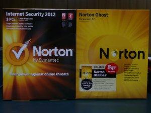 Norton Internet Security 2012 V.19, 3 PC/Utilities 2011 V.15, 3 PC/Ghost 15 + 2013 upg.