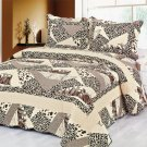 4pcs brown color bedding set AY-1103