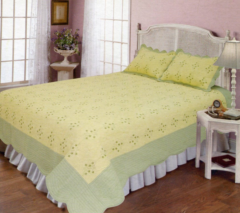 4pcs yellow and olive color bedding set AY-1106