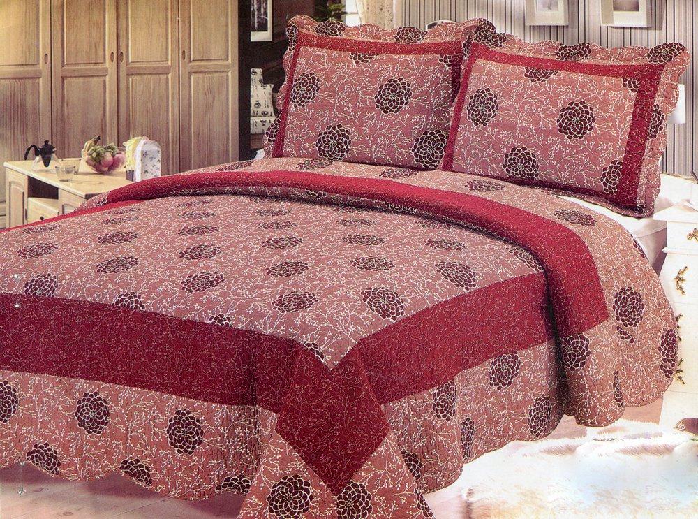 4pcs red color bedding set AY-1138