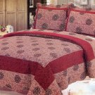4pcs red color bedding set AY-1138
