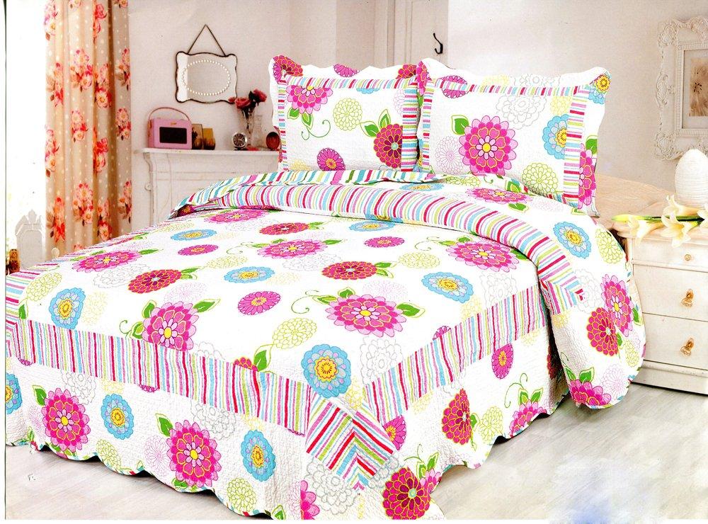4pcs multi floral bedding set AY-1155