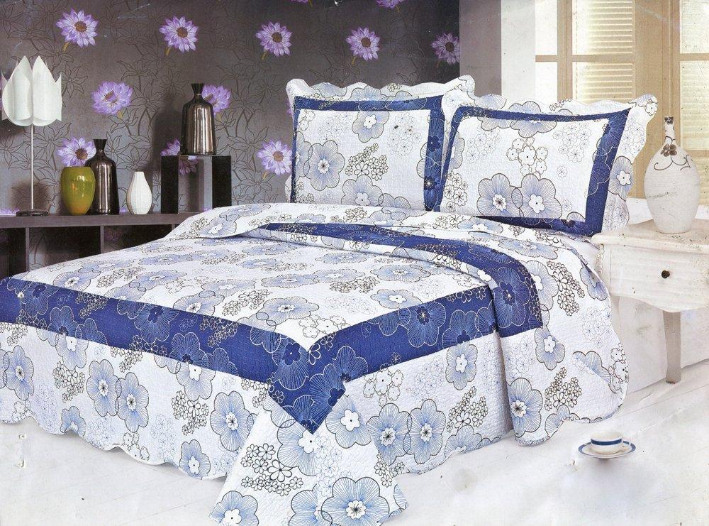 4pcs blue floral bedding set AY-1156