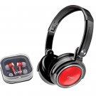 Coby 2-in-1 Combo Deep Bass Headphones and Earphones