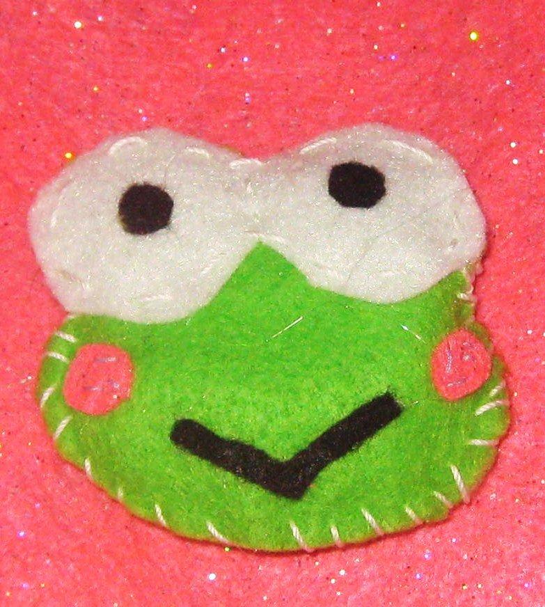 keroppi frog key chain