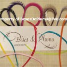 5 Goose Biots for Feather Hair Extensions pink Purple yellow Green orange Brown White ALL COLORS!