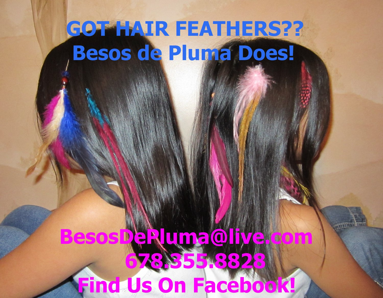 FEATHERS Hair Extensions PICK ANY 10 - Grizzly Rooster, EMU, Spotten Hen, Goose Biots ANY COLOR 6$