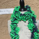 ❤ SEATTLE SEAHAWKS Team Spirit BRIGHT LIME GREEN Dark Navy Blue SILVER Ruffle Yarn Neck Scarf ❤