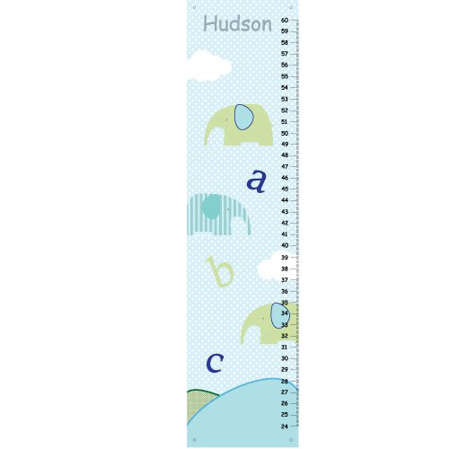 Canvas Growth Charts- Baby Nursery Decor  - ABC and elephants