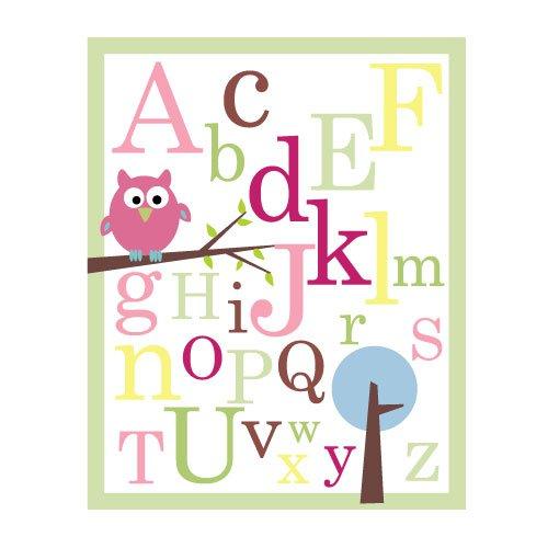 ABC print - Owl on branch