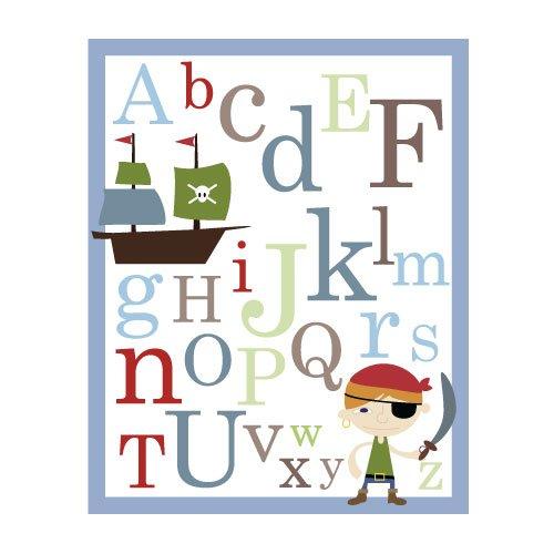 ABC Alphabet Poster print -Pirate - nursery wall decor