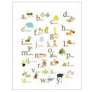Animal ABC Poster print -11 X 14- baby room wall decor