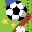Boys Sport Canvas Growth Charts - Nersury Decor Wall Art - green