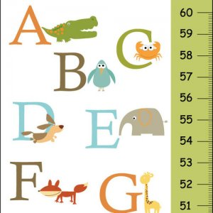 Personalized Children Canvas ABC Green Growth Charts