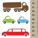 Personalized Cars Growth Chart canvas wall hangings